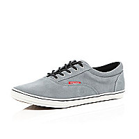 Grey suede Jack & Jones trainers
