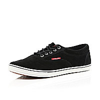 Black suede Jack & Jones trainers