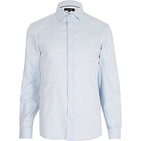 Light blue long sleeve smart shirt