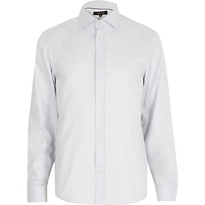 Grey long sleeve formal shirt