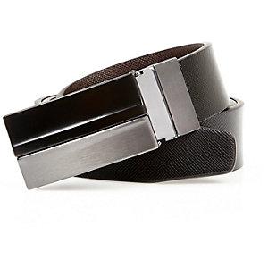Black reversible belt