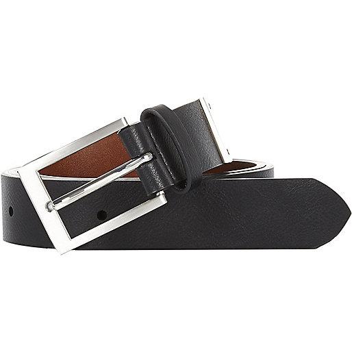 Brown and black reversible belt