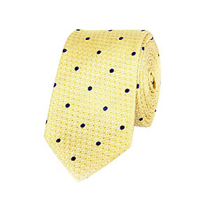 Yellow silk spot tie