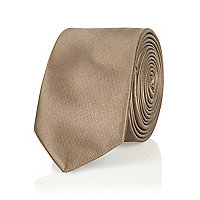 Brown champagne tie