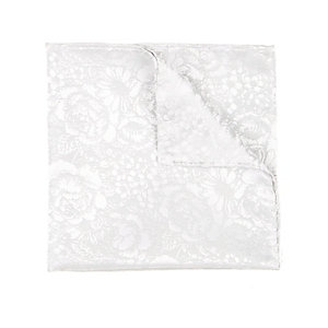 Silver jacquard pocket square