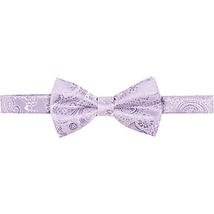 Purple jacquard bow tie