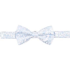 Blue jacquard bow tie