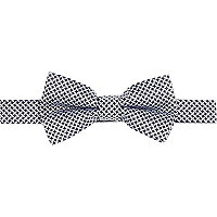 Black criss cross bow tie