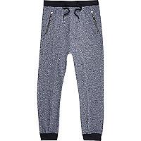 Blue marl drop crotch joggers