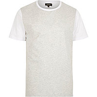 White coated front t-shirt
