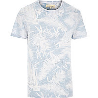 White reverse palm print t-shirt