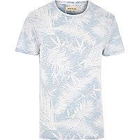 White reverse palm print t-shirt