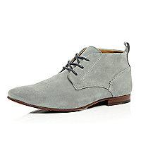 Grey suede chukka boots
