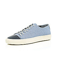 Blue low top trainers