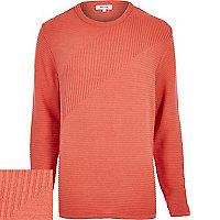 Light orange ribbed long sleeve jumper
