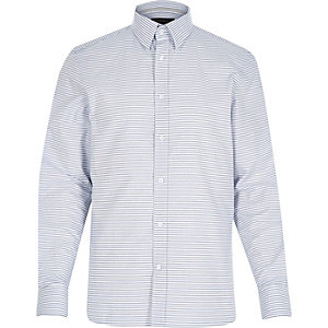 White horizontal stripe shirt