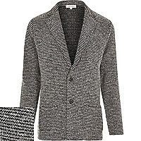 Black knitted blazer jacket