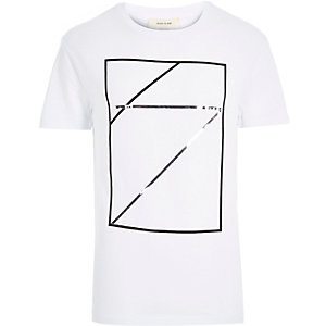 White square mirror print t-shirt
