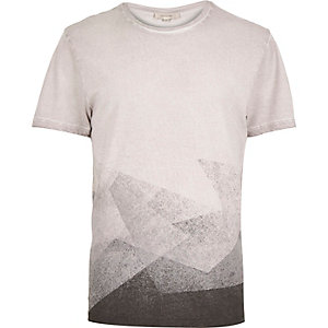Brown faded shape t-shirt