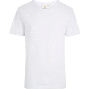 White on white graphic print t-shirt