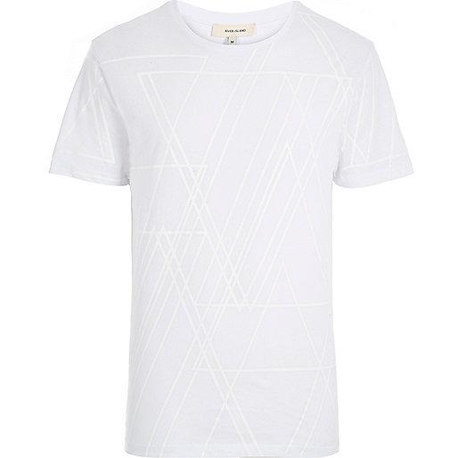Weißes T-Shirt mit Grafikmuster