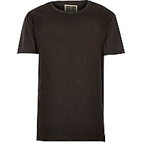 Grey Holloway Road linen front t-shirt