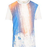 White colour fade out t-shirt