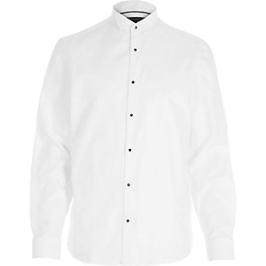 White formal tux shirt