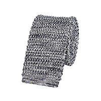 Grey melange knitted tie