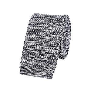 Grey melange knitted tie