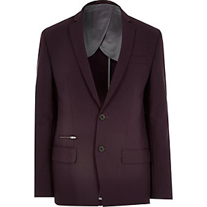 Cherry skinny suit jacket
