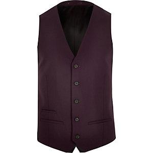 Dark red suit waistcoat