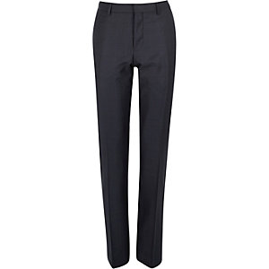 Navy slim suit trousers
