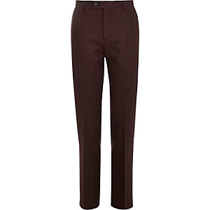 Berry wool-blend slim suit trousers
