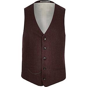Berry slim suit waistcoat