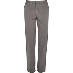 Grey smart stretch slim fit trousers