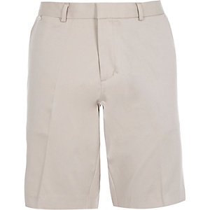 Ecru smart stretch shorts