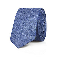 Blue chambray tie