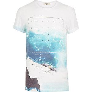 White sea foil print short sleeve t-shirt