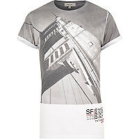 White San Fran city print t-shirt