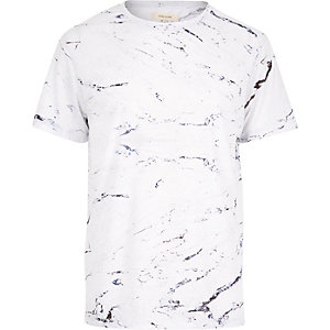 White marble print t-shirt