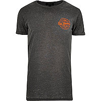 Grey San Fran chest print t-shirt