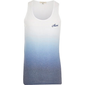 Blue dip dye Miami vest