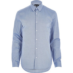 Blue Oxford slim long sleeve shirt