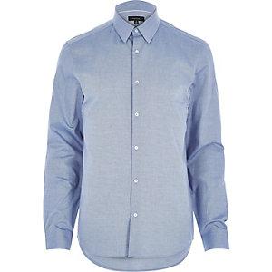 Blue Oxford slim long sleeve shirt