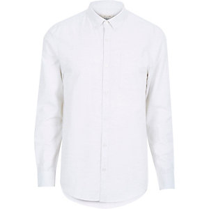 White marl lightweight shirt