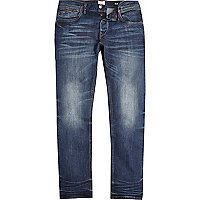 Dark wash creased Dylan slim jeans