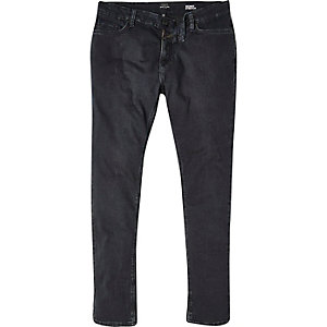 Washed black Sid skinny stretch jeans