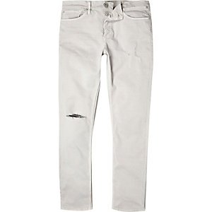 Off white distressed Sid skinny stretch jeans