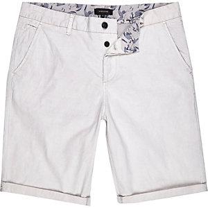 Stone slim chino shorts